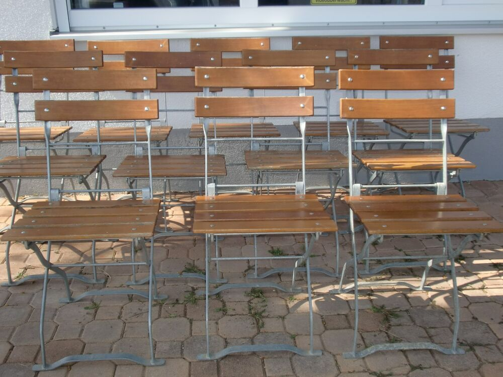 alter gartenstuhl biergartenstuhl klappstuhl vintage shabby chic holz metall ebay. Black Bedroom Furniture Sets. Home Design Ideas