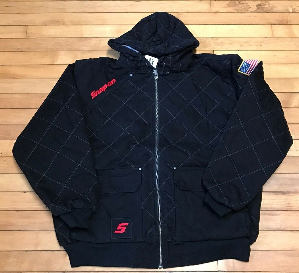 NEW Snap on Tools Mens XL,2XL,or 3XL Black Quilted Hooded ...