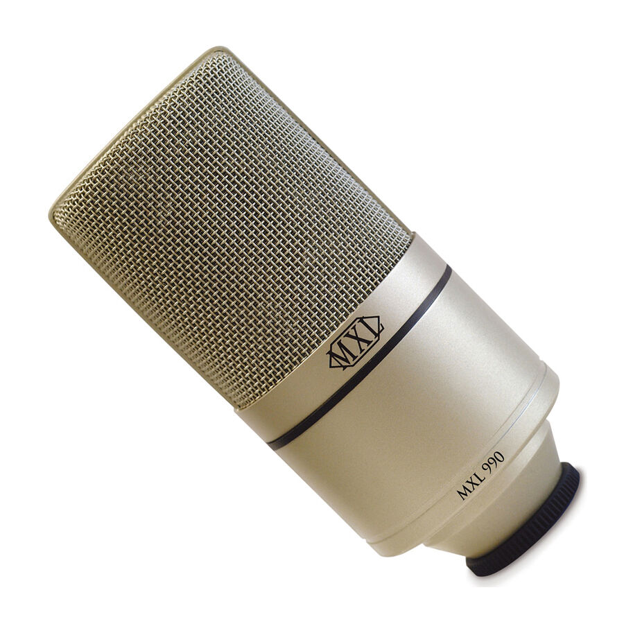 mxl 990 condenser microphone with shockmount project studio recording with case ebay. Black Bedroom Furniture Sets. Home Design Ideas