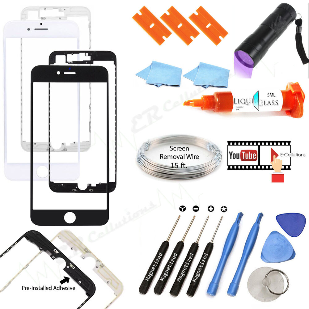 apple iphone 6 6s 7 plus glass screen outer lens. Black Bedroom Furniture Sets. Home Design Ideas