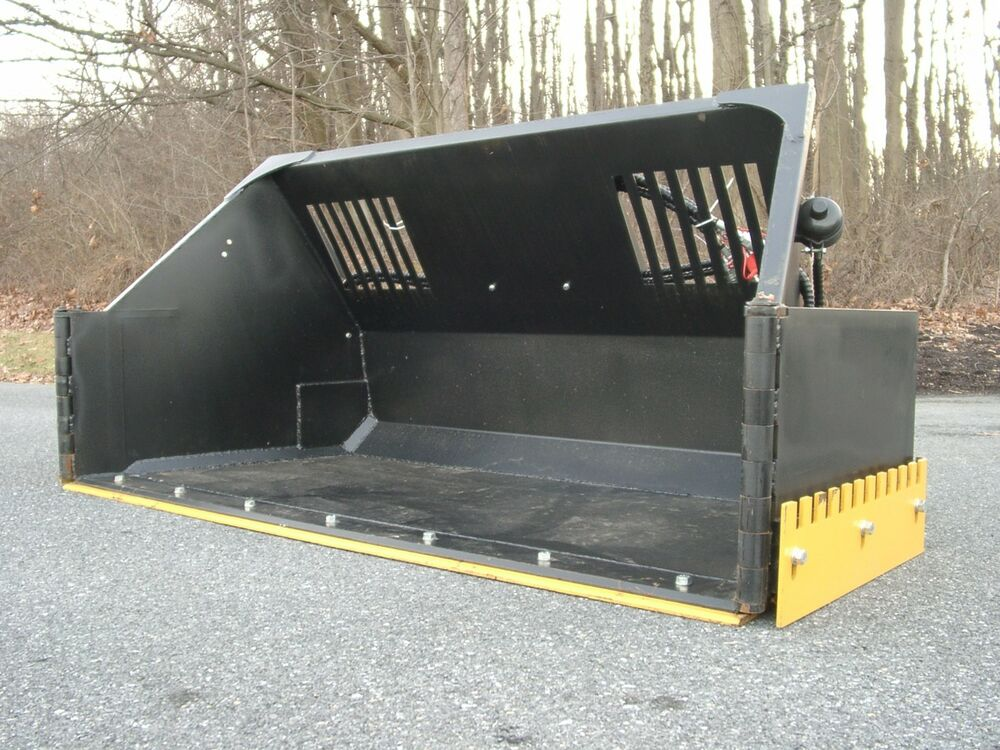 Super Snow Bucket Skid Steer Attach With Hydraulic Wings