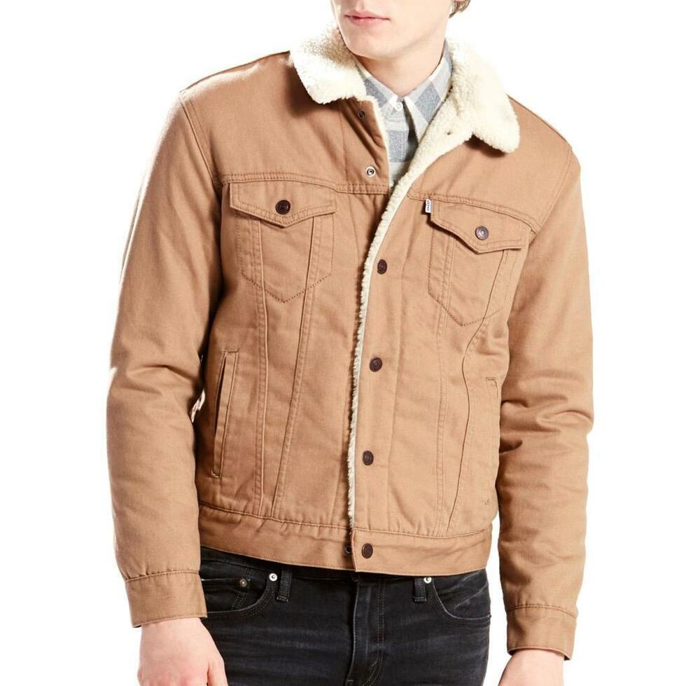 LEVI'S MEN'S BUTTON UP FLANNEL SHERPA TRUCKER JACKET COLOR ...