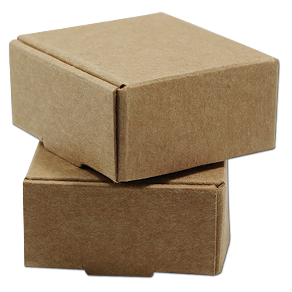 Brown Kraft Paper Small Gift Pack Box Wedding Party Favor