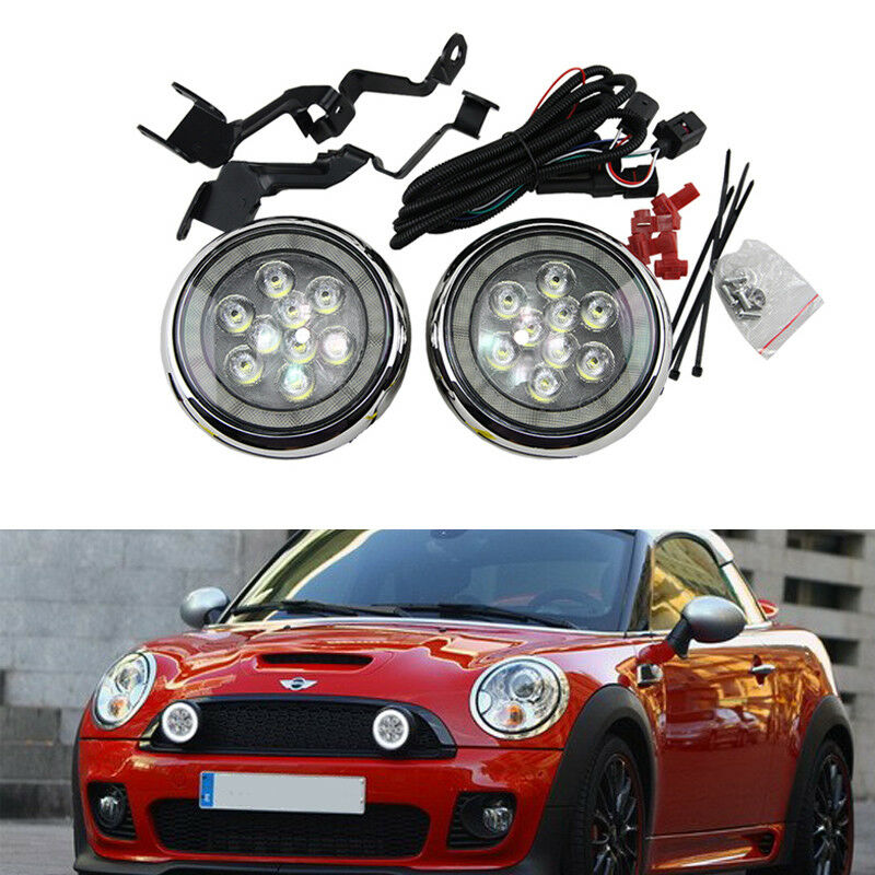 Details About Chrome Mini Cooper R56 F56 R57 R58 R60 Led Rally Daytime Running Light Lamp