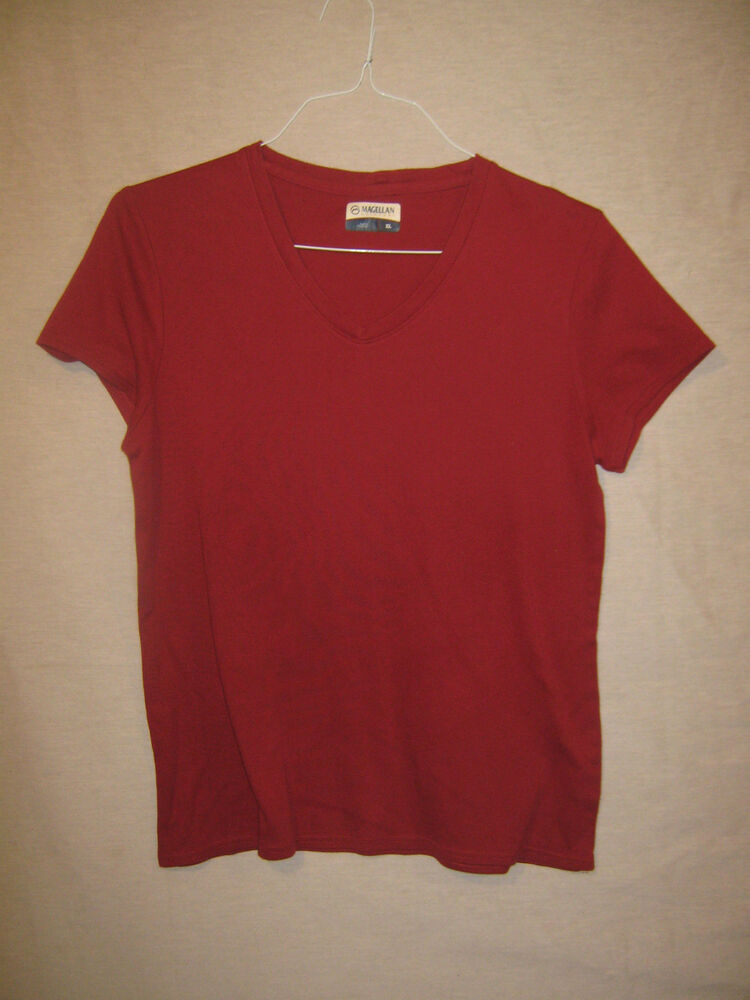 Burgundy t shirt size xl magellan outdoors ebay for Magellan women s fishing shirts