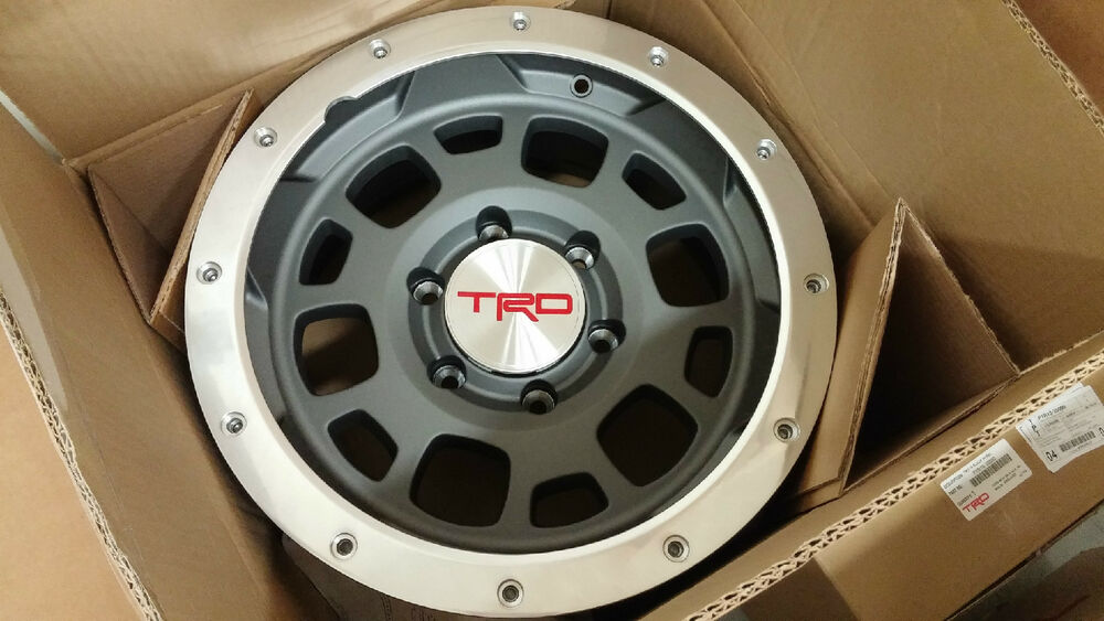 "2017 Tacoma Accessories >> TOYOTA TACOMA FJ CRUISER TRD 16"" Off Road Beadlock Style Wheels BAJA GREY NEW 5 
