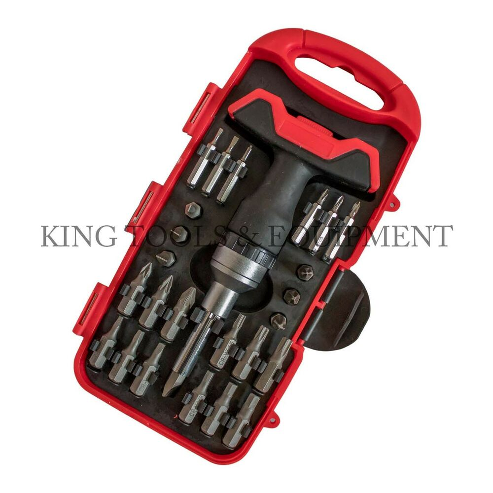 King 26 Pc Compact Screwdriver Amp Precision Bit Set W