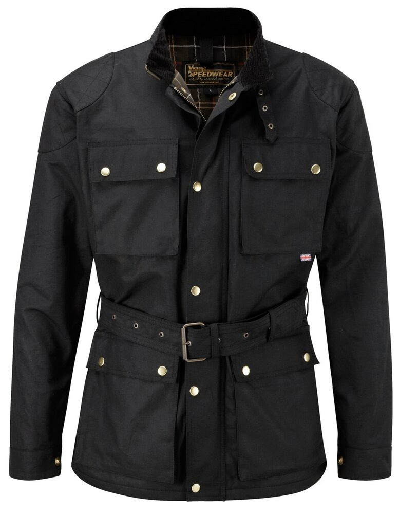 Speedwear Classic Wax Cotton Vintage Style Motorcycle
