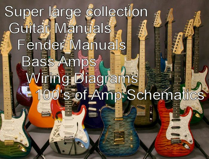 GUITAR Super Large Collection of Guitar Manuals Amplifier Manuals ...