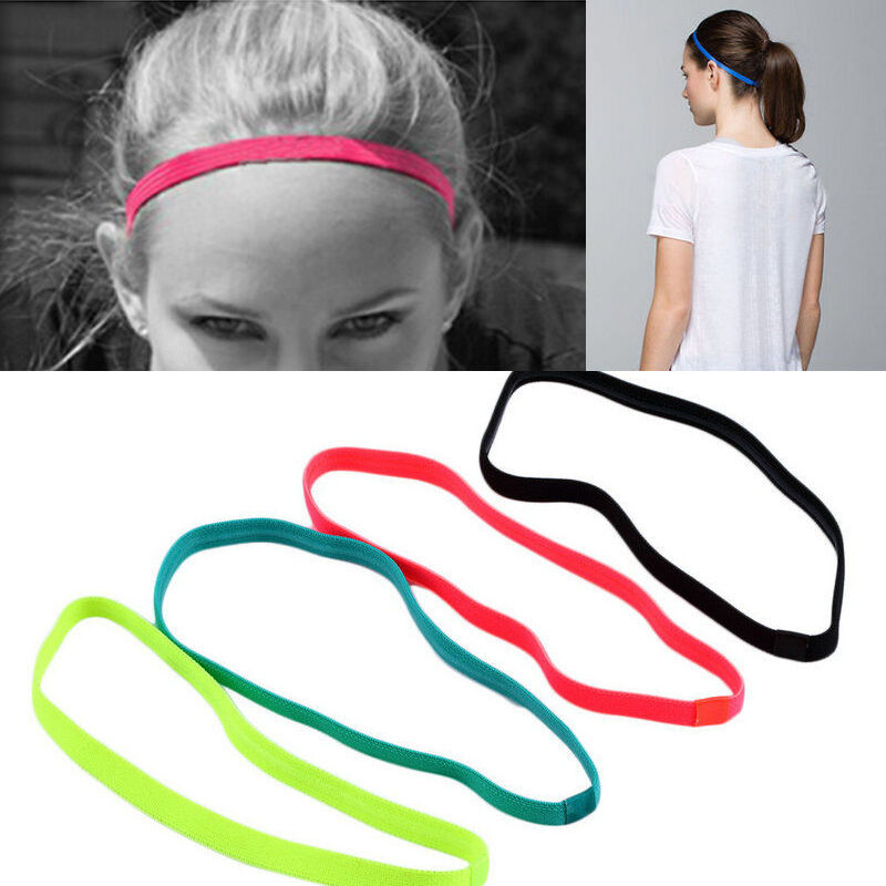 Details about New Girls Sport Yoga Thin Hair Band Sweatband Non-Slip  Headband Hair Accessories f99dc0a910c1