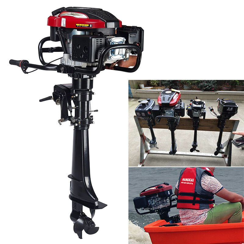 7hp 4 stroke outboard motor fishing boat motor engine air for Fishing boat motor