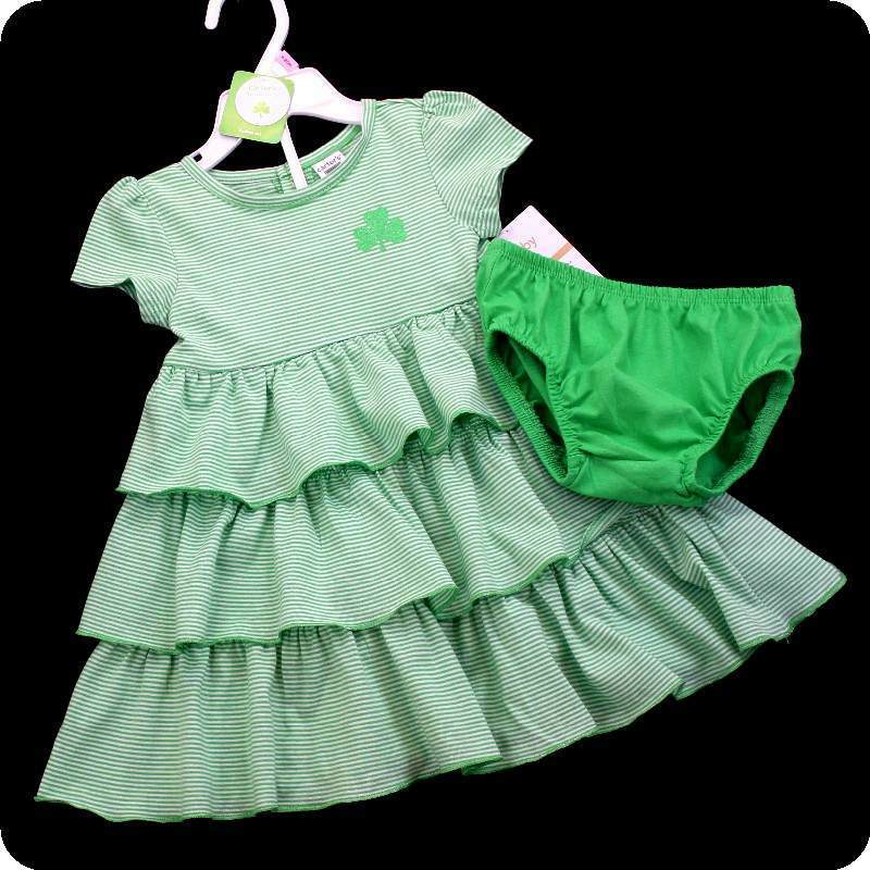 New NWT CARTERS FIRST 1ST ST PATRICKS DAY GREEN Shamrock