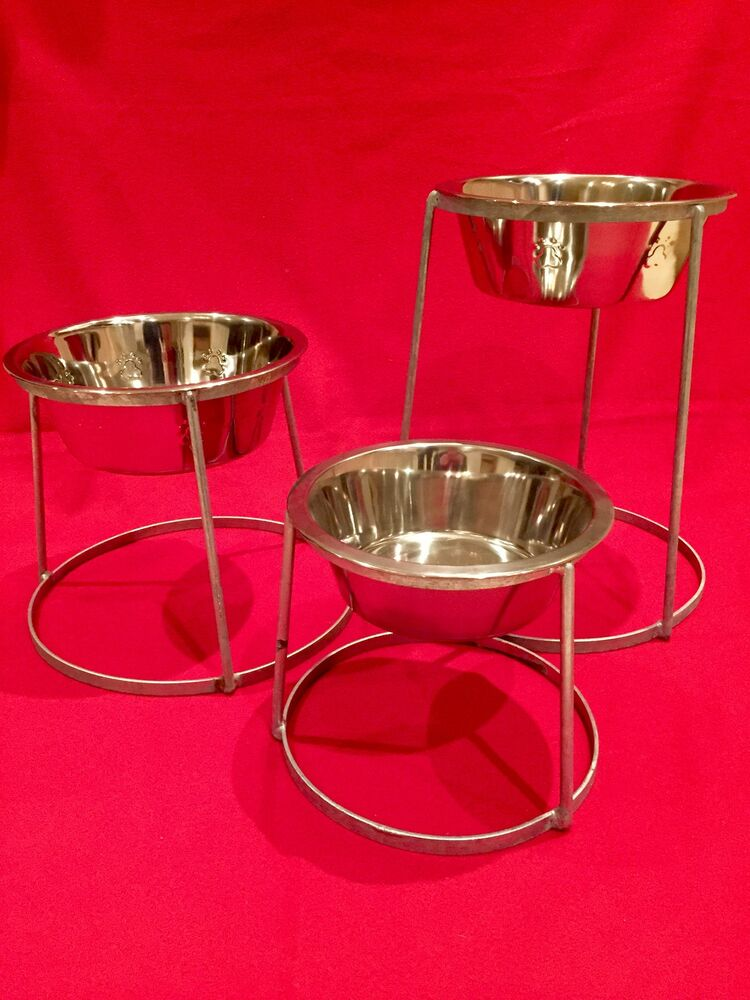Stainless steel Dog bowl with stand,raised holder for ... - photo#20