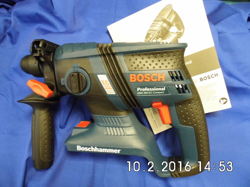 bosch gbh 36 v ec compact professional 36 volt cordless rotary sds hammer drill ebay. Black Bedroom Furniture Sets. Home Design Ideas