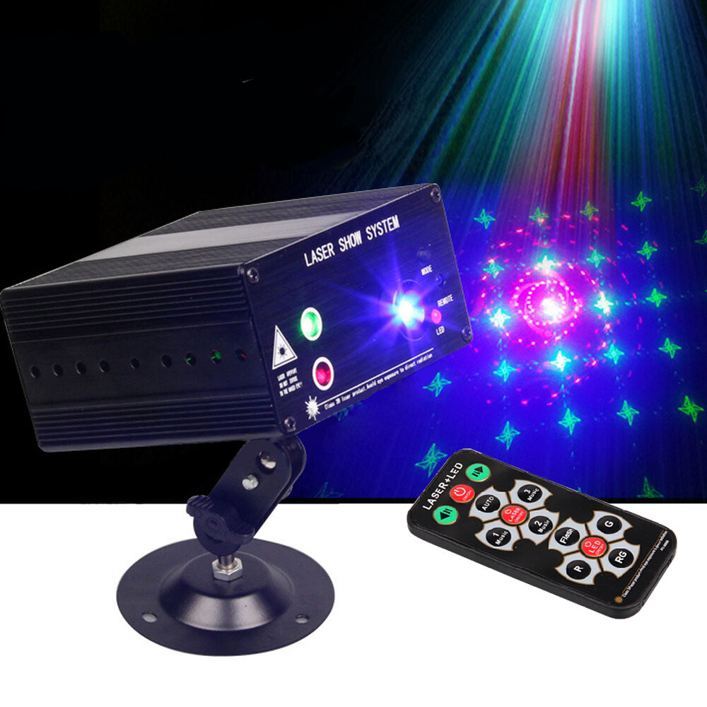 48 Pattern Laser Projector Stage Lights Mini Led Rgb