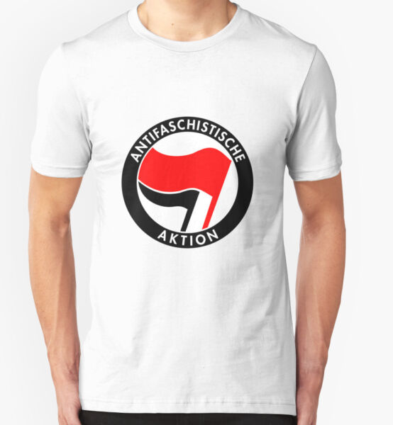 ANTIFASCHISTISCHE AKTION T SHIRT TOP ANTIFA AFA GERMANY DUTCH