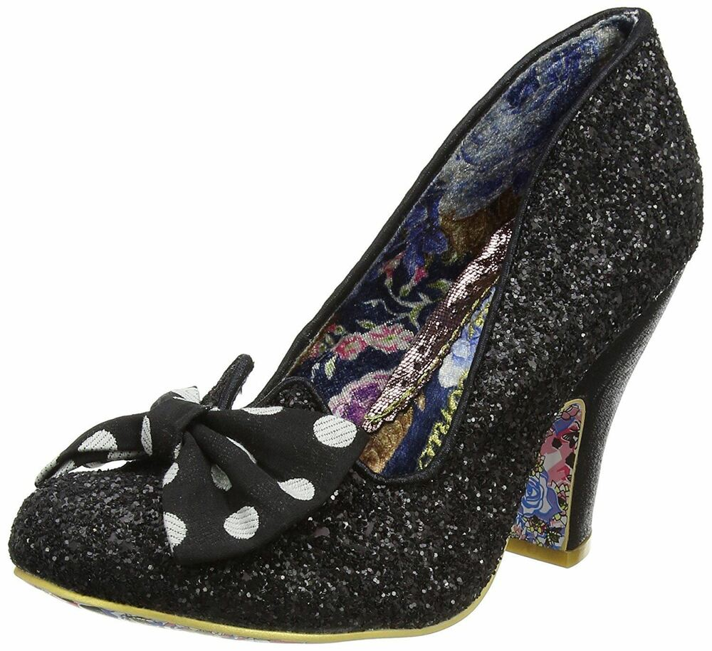 White Floral Court Shoes
