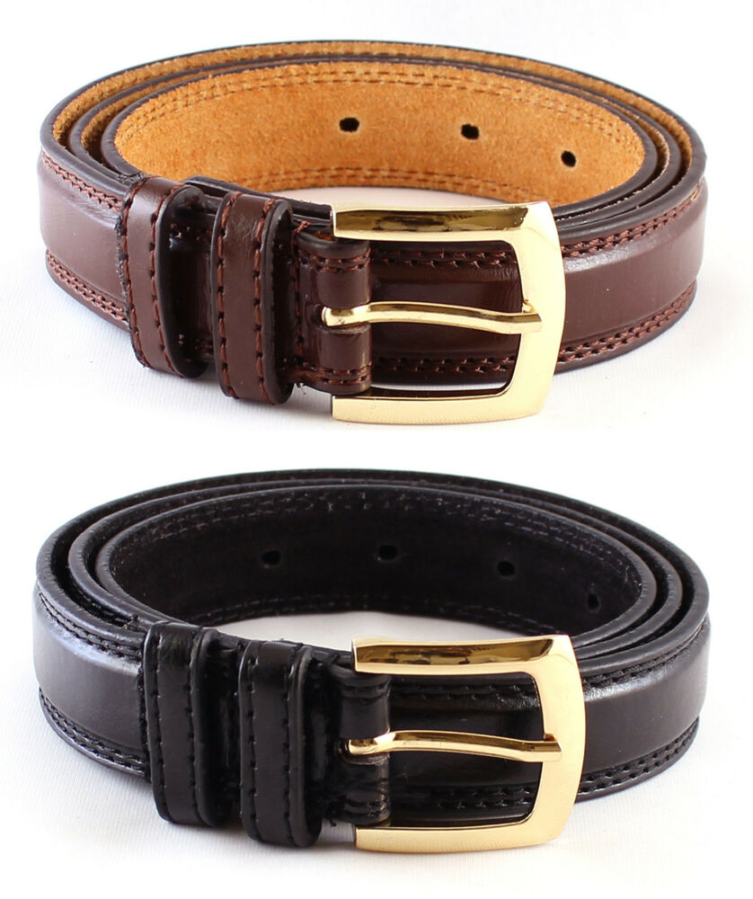 """Based on your pants size, pick your belts one or two sizes larger to get a good fit: if you wear a 36"""" trouser waist, a belt labeled 38"""