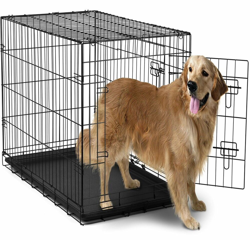 Extra Large Dog Crate Kennel Xxl Xl Huge Folding Pet Wire