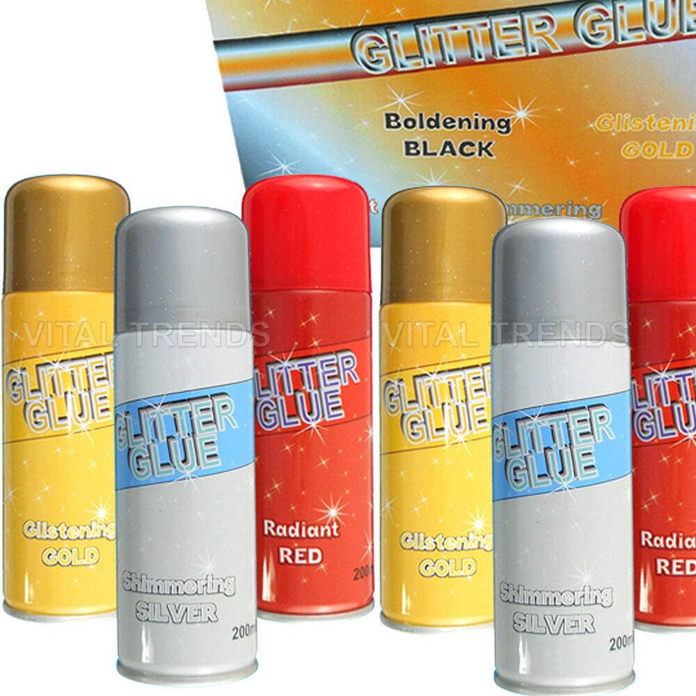 Glitter glue spray paint can cardmaking scrapbooking for Best glue for crafts
