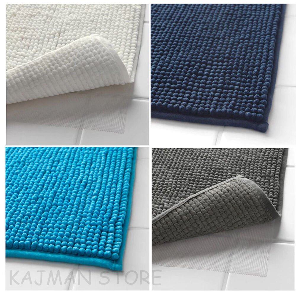 Bath Mat 90x60cm Ultra Soft Microfibre Absorbent Quick To