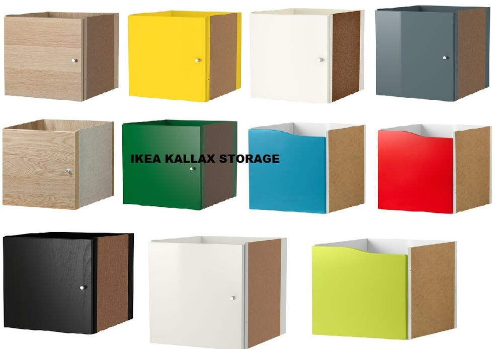 ikea kallax shelf rack insert with door colours compatible with expedit brandnew ebay. Black Bedroom Furniture Sets. Home Design Ideas