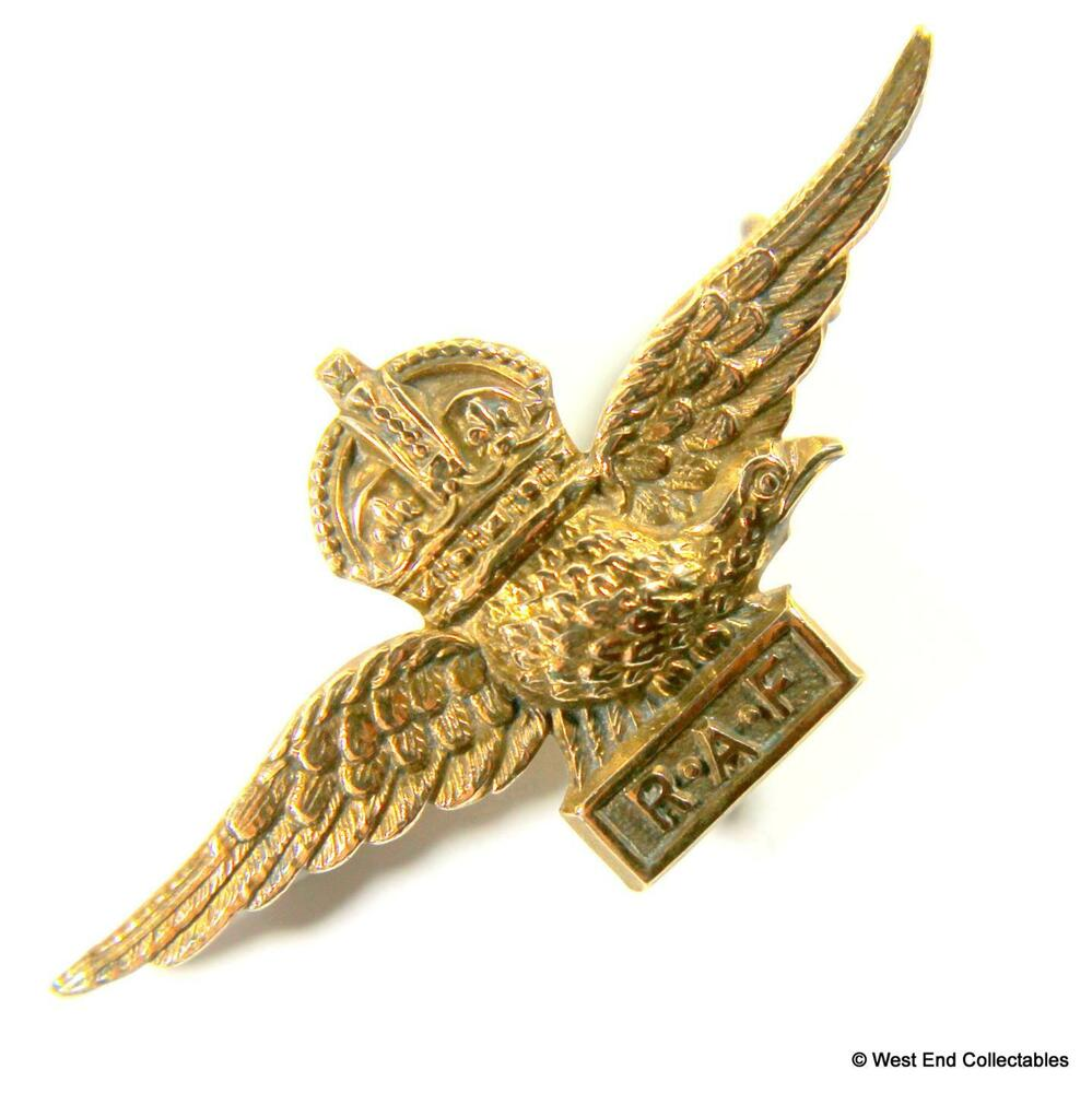 5bcf76cdd Details about 1930s RAF Eagle Wings Gilt KC Sweetheart Brooch Badge - Royal  Air Force  A003
