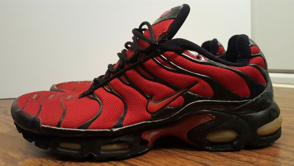 the latest 518e8 fa142 Détails : Nike Air Max Plus TN, 604133-601, Varsity Red/Black, Mens Running  Shoes, Size 12