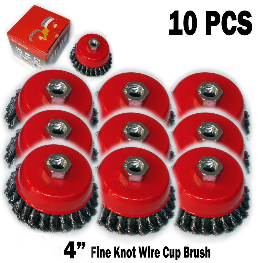 10pc 4 Quot X 5 8 Quot 11 Nc Fine Knot Wire Cup Brush Twist For