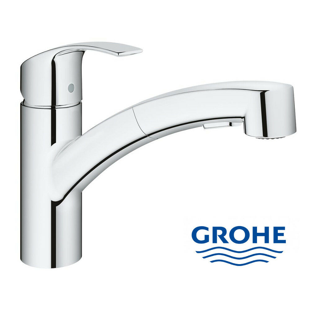 grohe eurosmart sp ltischarmatur m herausziehbarer brause k chenarmatur armatur ebay. Black Bedroom Furniture Sets. Home Design Ideas