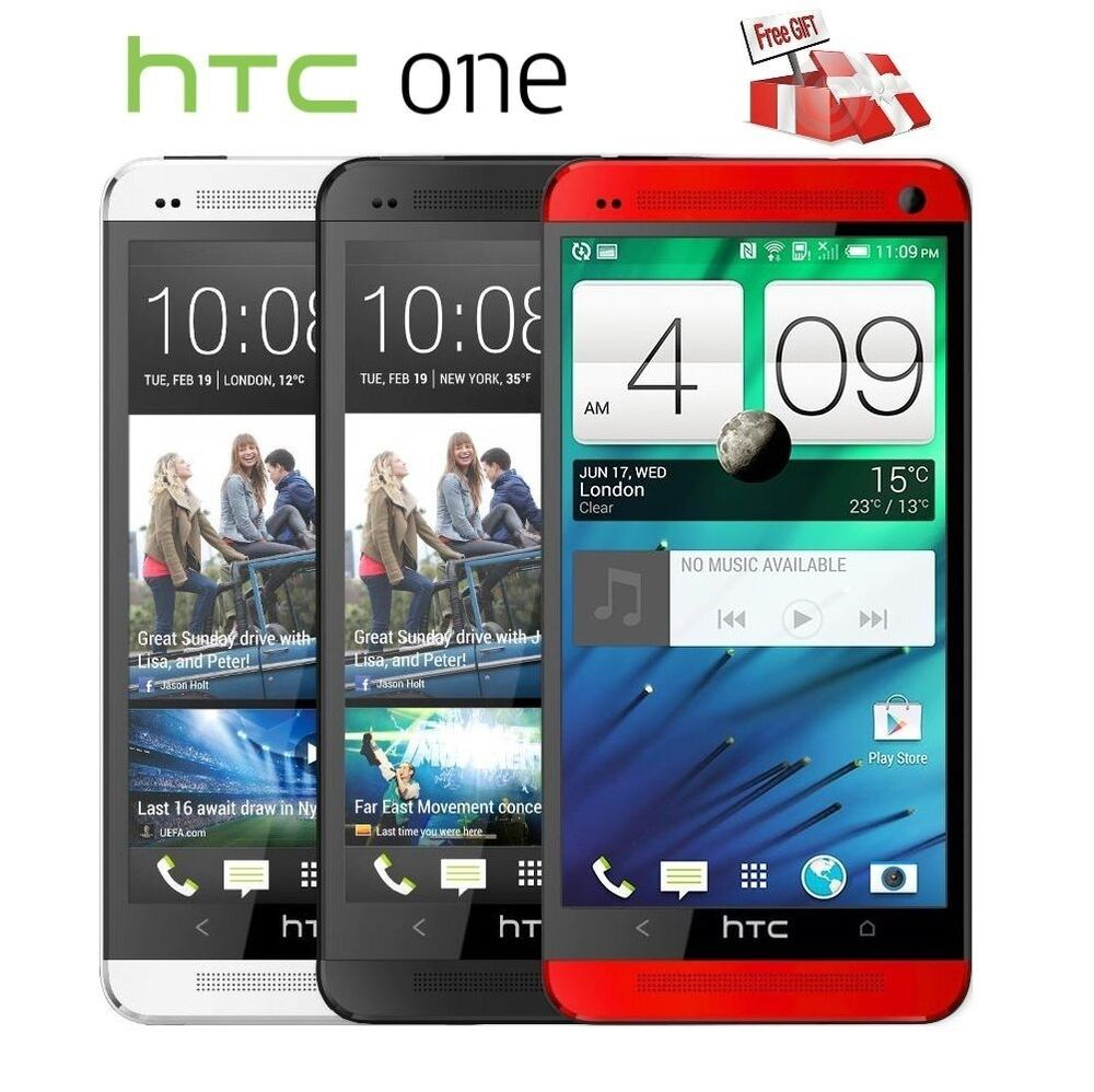 unlocked htc one m7 32gb quad core mobile smartphone gold silver black ebay