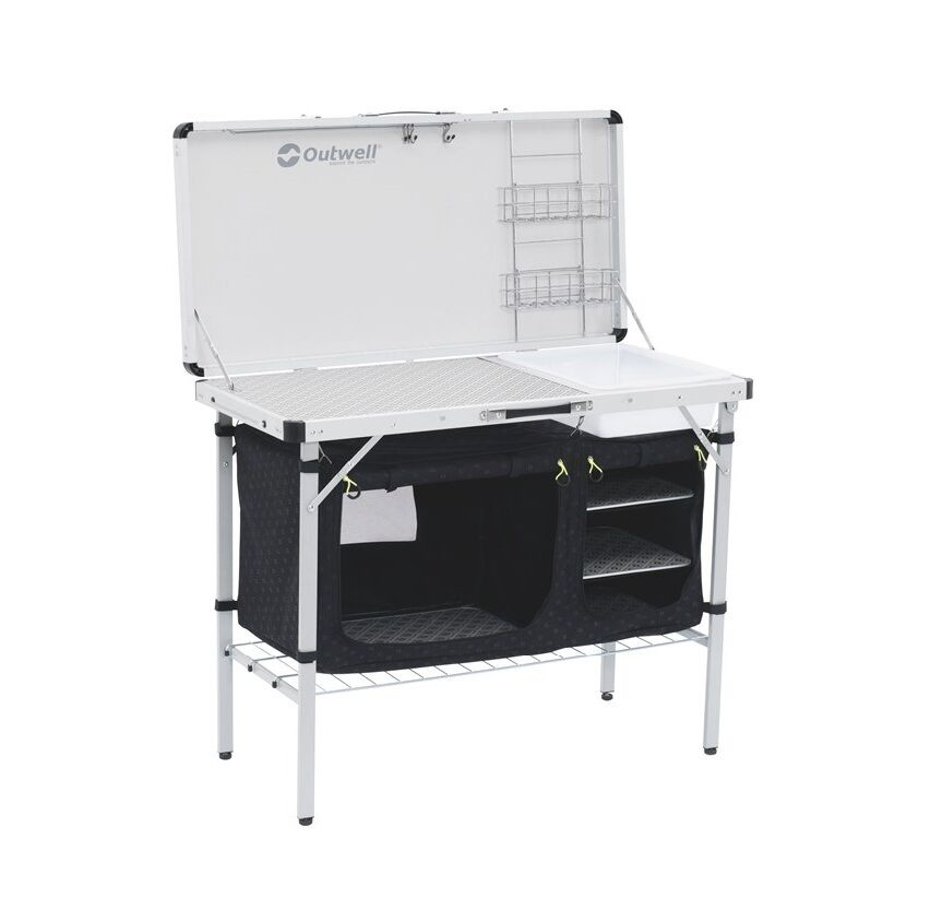 Outwell drayton kitchen table camping folding storage basin worktop ebay - Ebay kitchen table ...