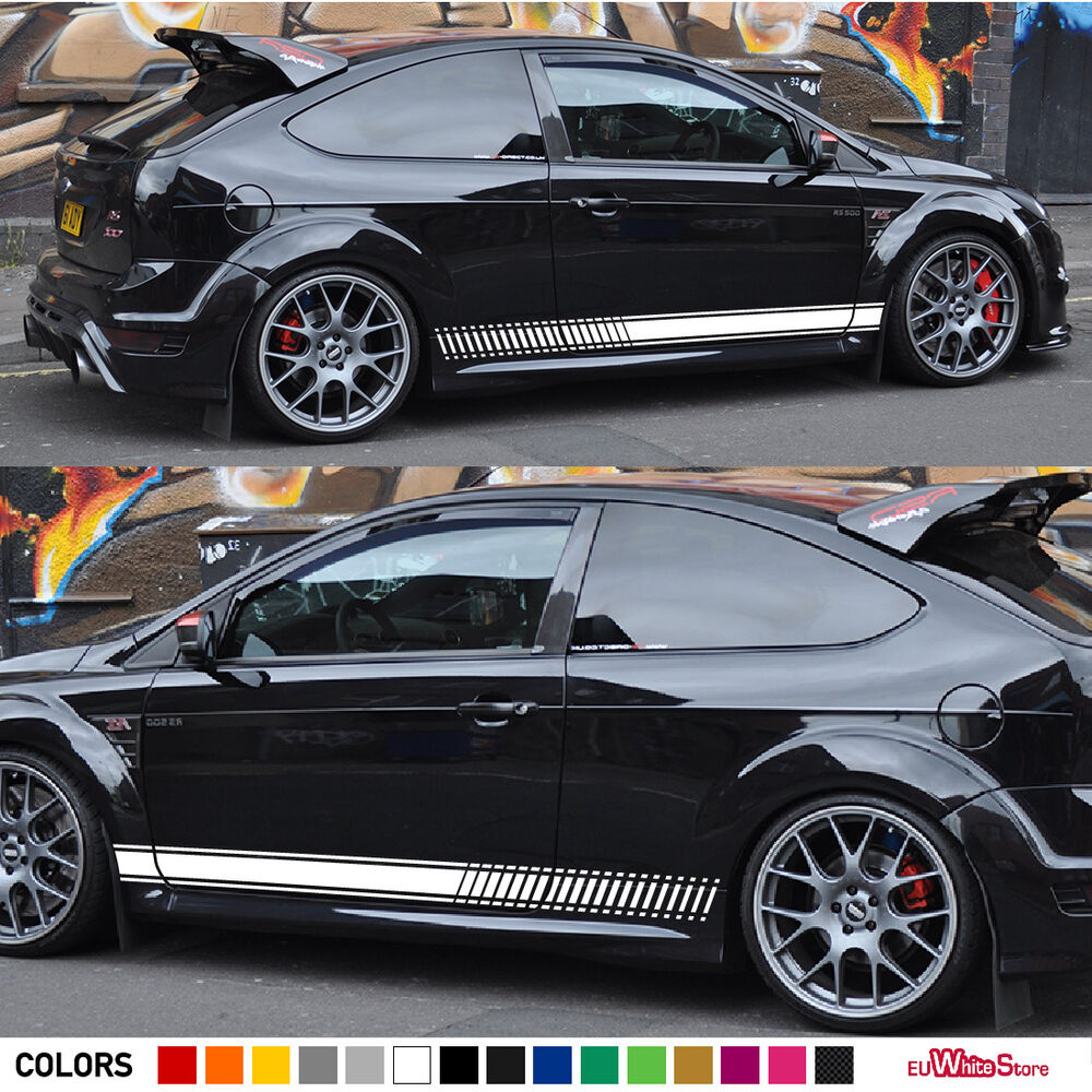 Decal Sticker Graphic Side Stripe Kit For Ford Focus Rs St