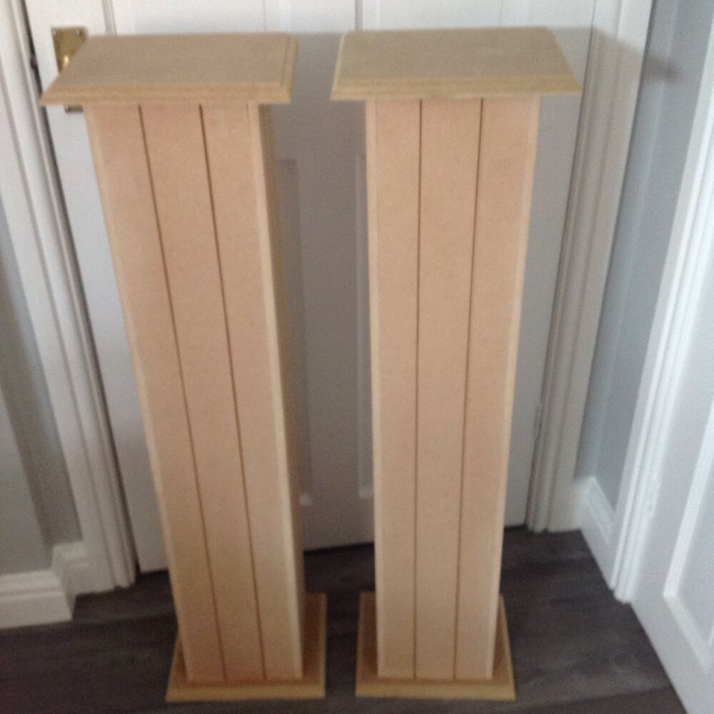 Wedding Flower Pillars: 2X Large MDF PEDESTAL PILLAR FLOWER WEDDING STANDS HAND