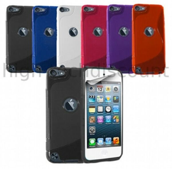 Housse etui coque silicone gel pour Apple iPod Touch 5 + verre trempe