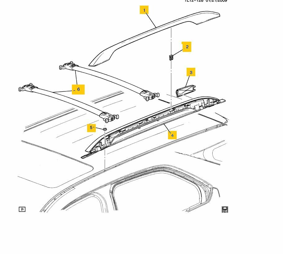 New Oem 2010 2015 Terrain Equinox Roof Rail Kit W Black
