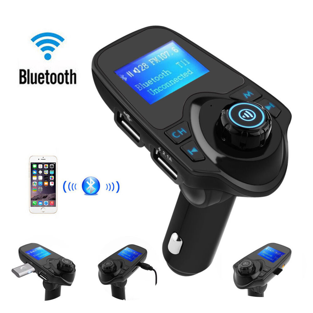 lcd wireless bluetooth fm transmitter car kit mp3 music. Black Bedroom Furniture Sets. Home Design Ideas
