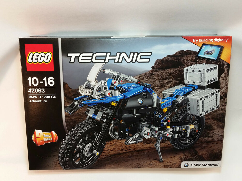 lego 42063 technic bmw r 1200 gs adventure new sealed. Black Bedroom Furniture Sets. Home Design Ideas
