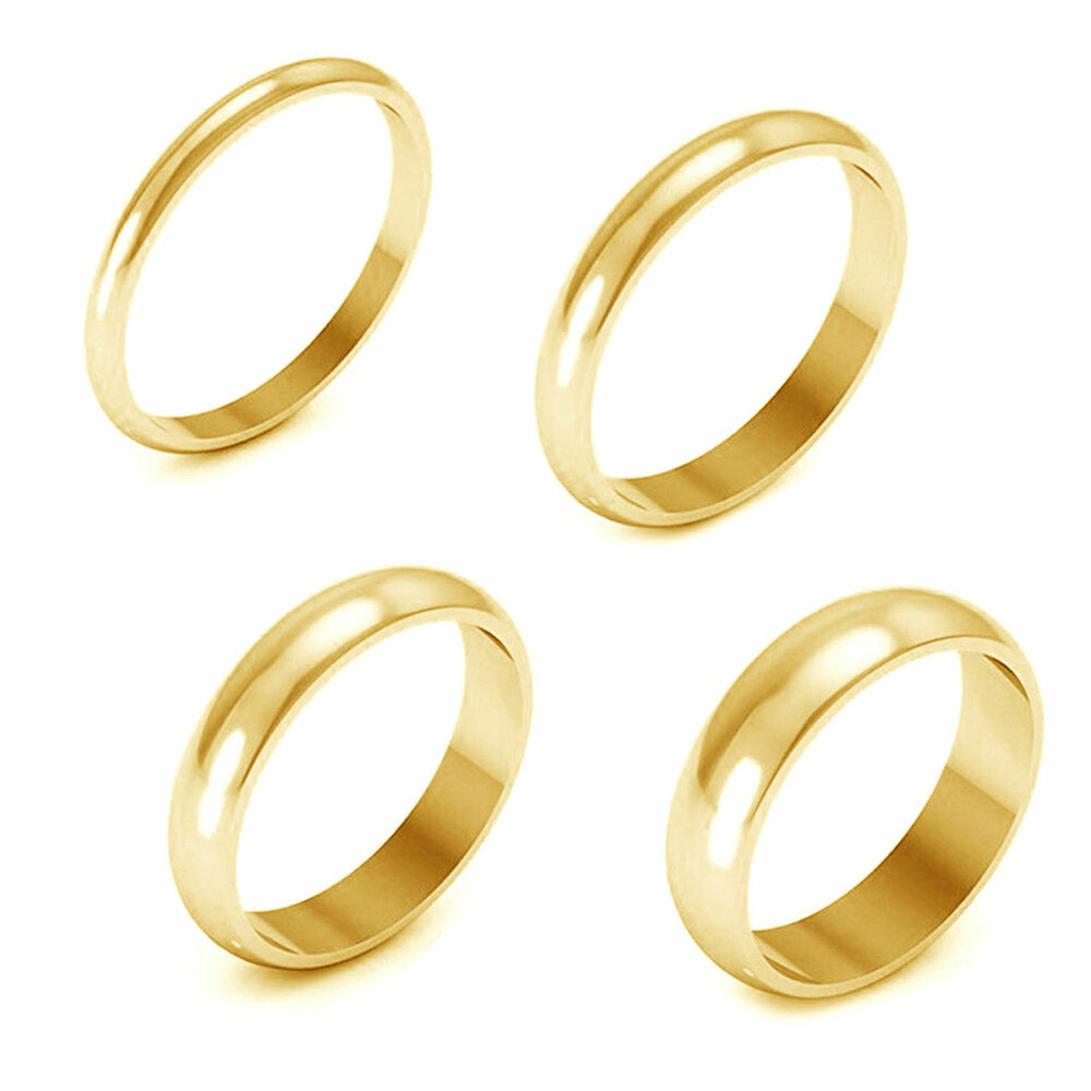 2mm 3mm 4mm 5mm Comfort Fit Men Women Band Ring 14k Yellow