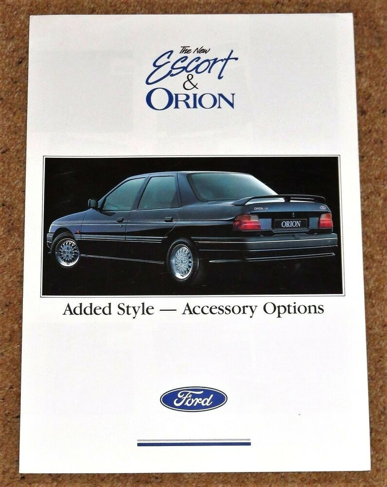 1990-92 FORD ESCORT & ORION ACCESSORIES Brochure - Alloy Wheels, Styling  etc | eBay
