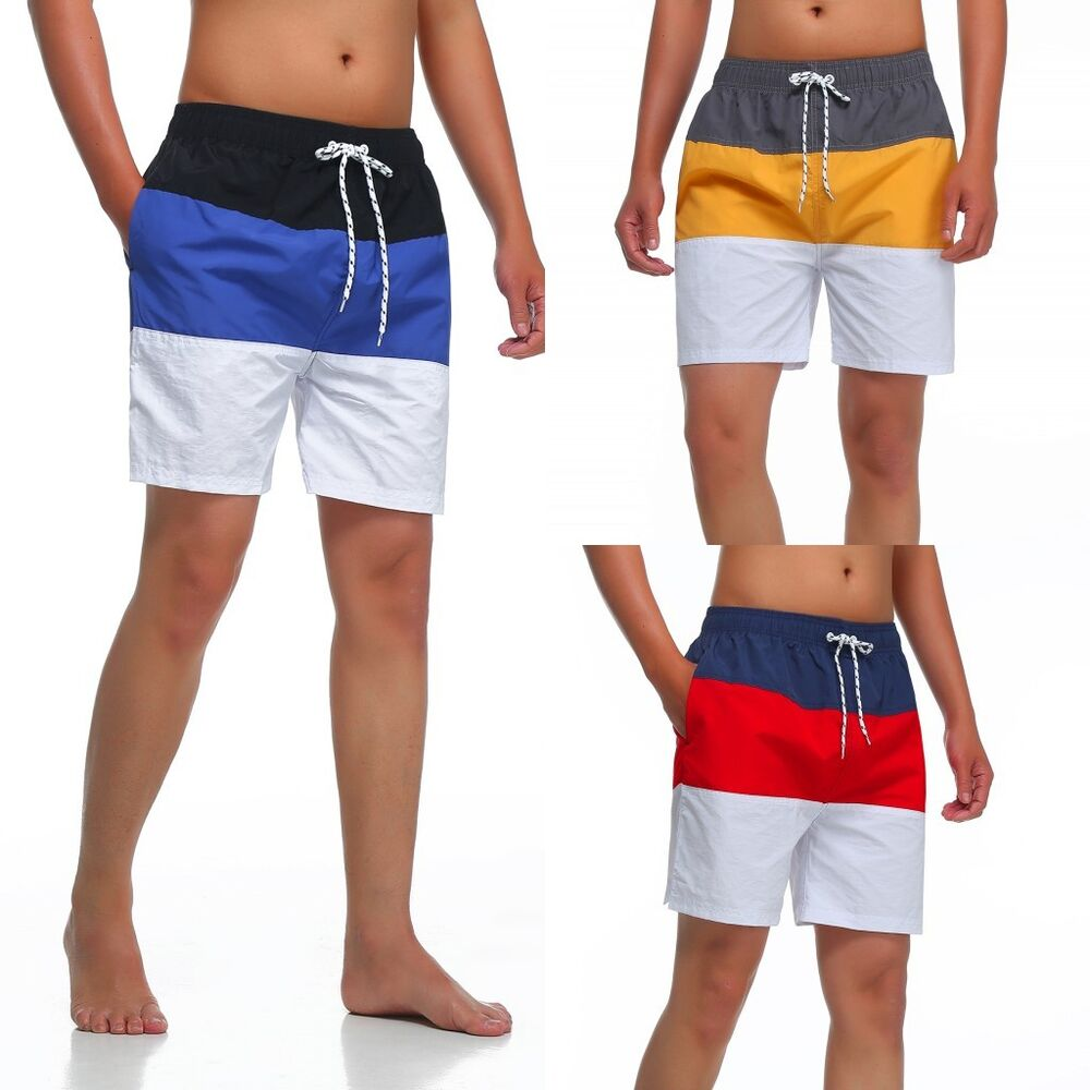Men's TC Cool Swim Trunks Board Shorts Swimwear Short Beach Pant Size S M L XL | eBay