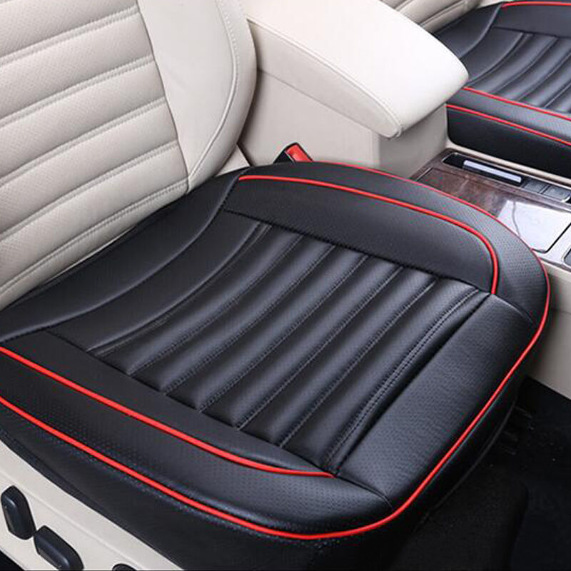 pu leather car front seat protect mat cover pad breathable chair cushion black ebay. Black Bedroom Furniture Sets. Home Design Ideas