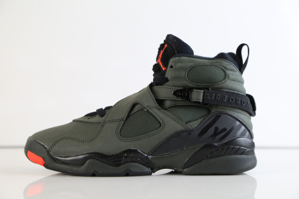 new arrival 4931e 5611a Details about Nike Air Jordan Retro 8 Take Flight Sequoia Green Orange BG  GS 305368-305 4-7 11