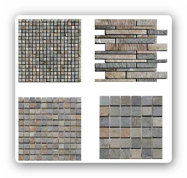 mosaik quarzit naturstein grau beige netz f r wand innenbereich spaltrau natur ebay. Black Bedroom Furniture Sets. Home Design Ideas