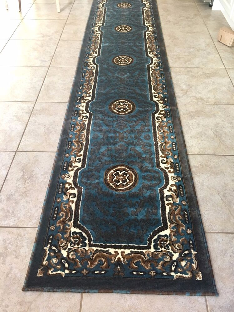 3x11 Runner Rug Persian Oriental Medallion Floral Size 2 3