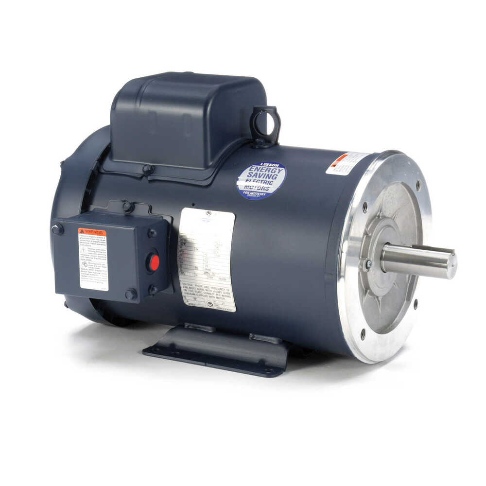 Leeson electric motor 5 hp 3600 rpm 1ph 230 volt for Electric motor 1 5 hp