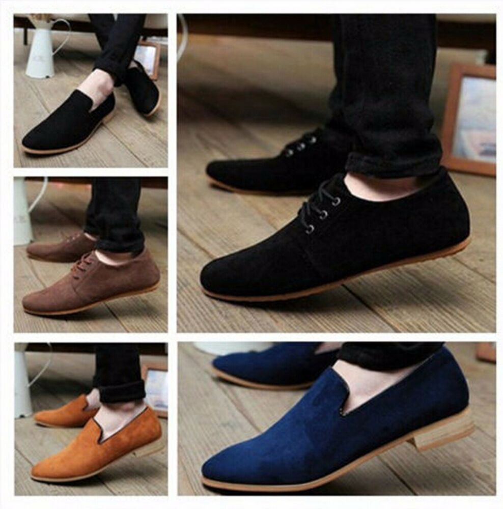 8ba50c64284 Details about 2018 NEW British Men s Casual Lace Slip On Loafer Shoes  Moccasins Driving Shoes