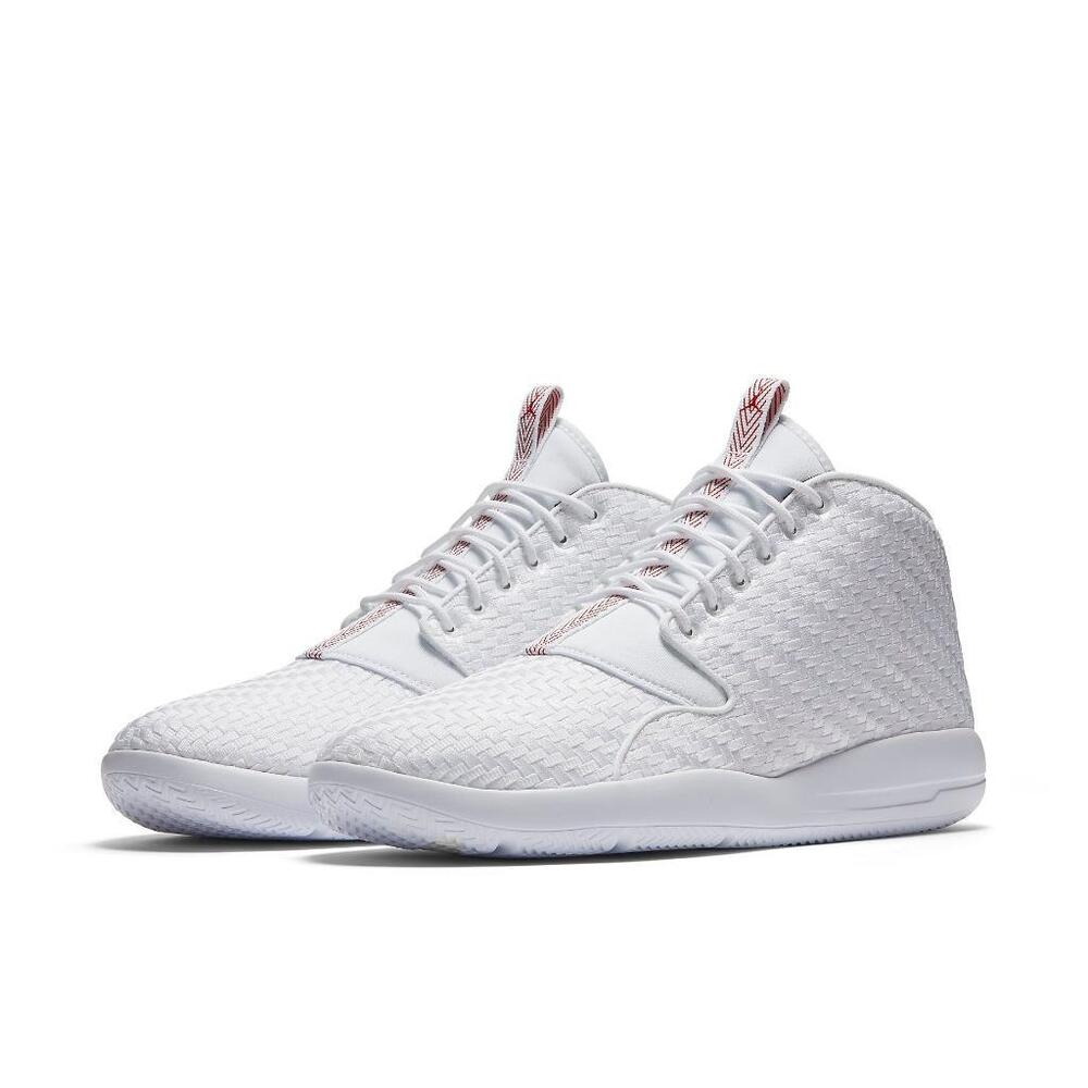Details about AIR JORDAN ECLIPSE CHUKKA 881453 101 WHITE GYM RED-BLACK -  PREMIUM WOVEN UPPER 523821a74