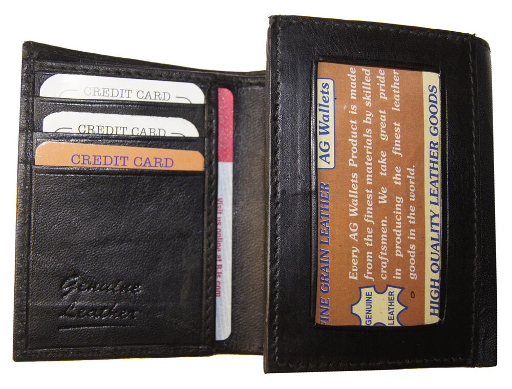 Mens Leather Trifold Wallet Companies Jaguar Clubs Of