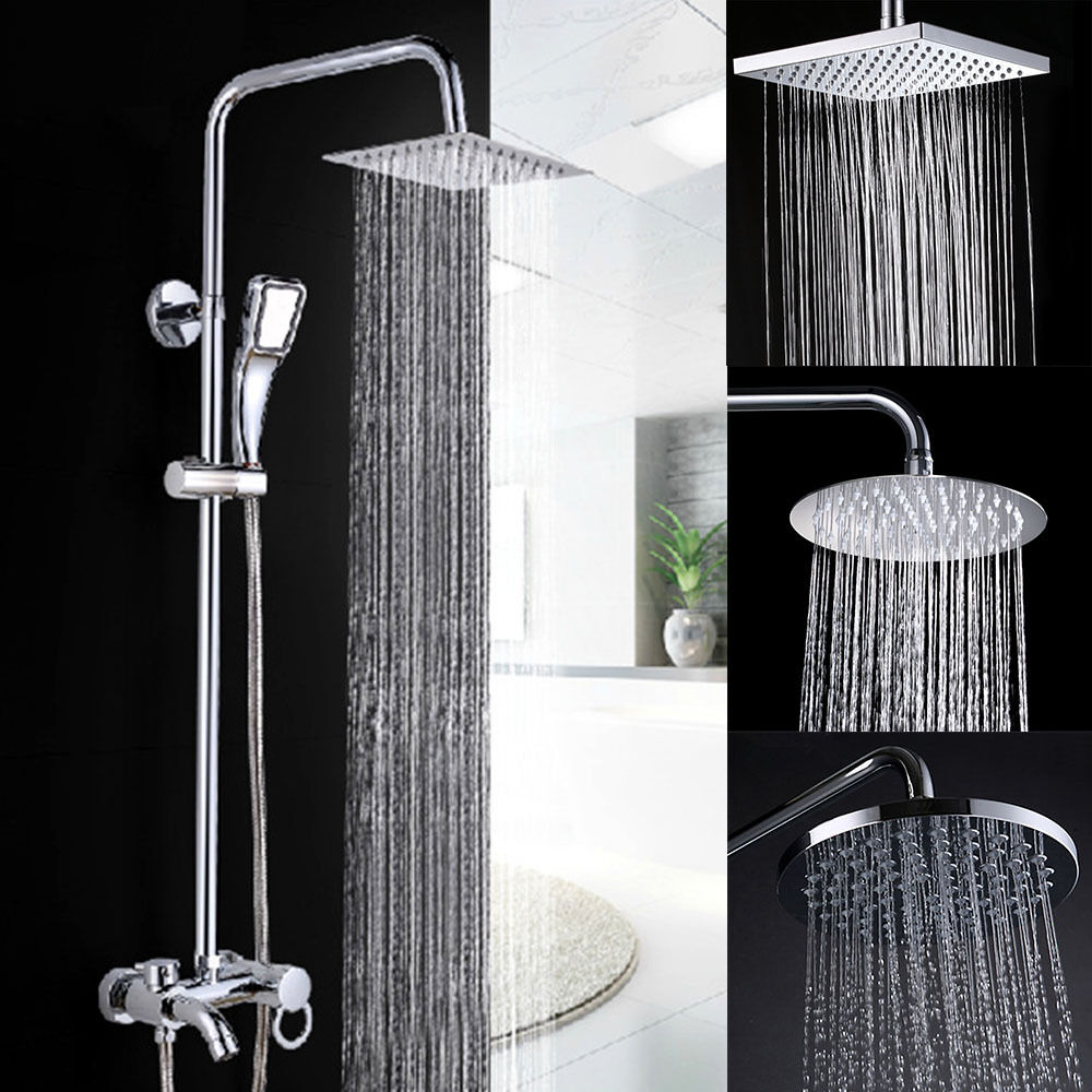 High quality large 8 chrome bathroom stainless rainfall for Childrens shower head